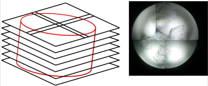 Image stack (left) and stitchted microscope image (right).